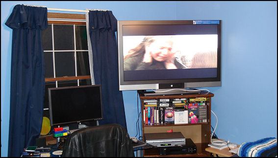 Room with new tv